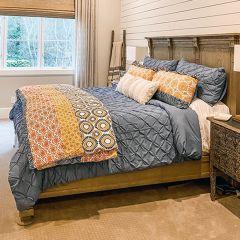 5 Piece Pintuck Comforter Set