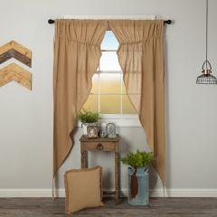 Burlap Beauty Long Curtain Panel Set of 2