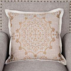 Farmhouse Design Pillow Buff