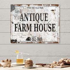 AFH Exclusive Antique Farmhouse Canvas Wall Sign