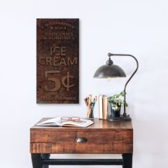 AFH Exclusive Ice Cream Canvas Wall Sign
