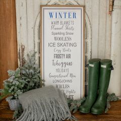 All Things Winter Framed Wall Sign