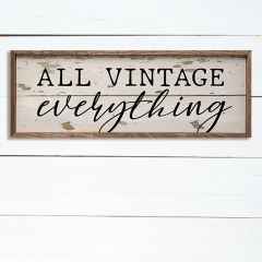 All Vintage Wall Sign