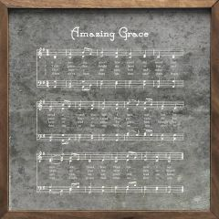 Amazing Grace Music Sheet Framed Wall Decor