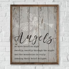 Angels We Have Heard Framed Rustic Wall Decor