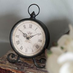 Antique Inspired Classic Round Table Clock