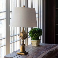 Antique Style Gilded Lamp