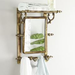 Antique Style Rectangle Mirror With Finials