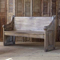 Antiqued Chapel Bench
