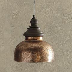 Antiqued Copper Dome Pendant Light