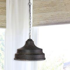 Antiqued Dome Pendant Lamp