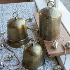 Antiqued Finish Bell, Set of 3