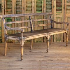 Antiqued Paseo Bench | SHIPS FREE