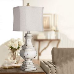 Antiqued Table Lamp Set of 2
