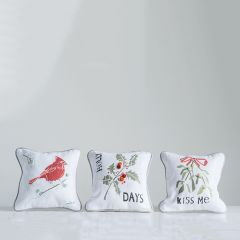 Appliqued Holiday Accent Pillow Collection Set of 3