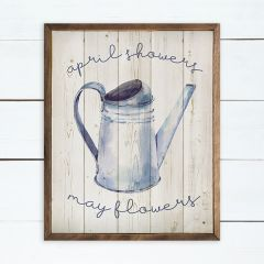April Showers May Flowers Wall Art