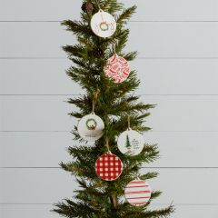 Assorted Ceramic Holiday Ornament Set of 6