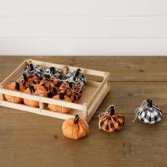 Assorted Decorative Patterned Pumpkins Set of 12