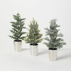 Assorted Faux Pine In Decorative Pot Set of 3