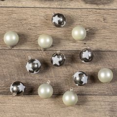 Assorted Holiday Ball Ornaments With Stars