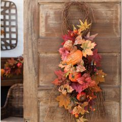 Autumn Bounty Fall Door Swag