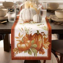 Autumn Pumpkins Table Runner
