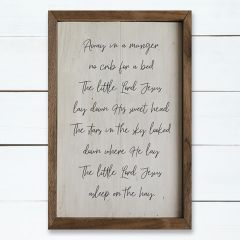 Away In A Manger Wood Wall Decor