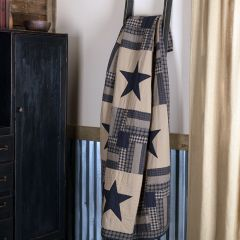 Country Check Star Quilted Throw