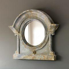 Distressed Mansard Accent Mirror