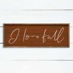 I Love Fall Orange Wall Art