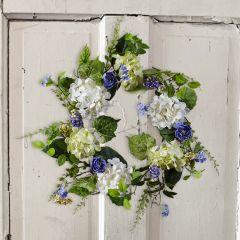 Cottage Farmhouse Hydrangea Wreath