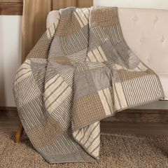 Cotton Block Quilted Throw Blanket