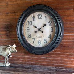 Round Schoolhouse Wall Clock