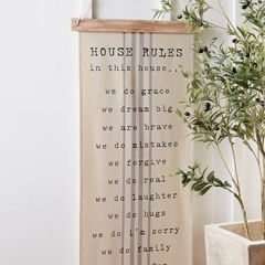 House Rules Hanging Wall Art