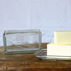 Covered Glass Butter Dish