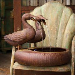 Folk Art Duck Water Fountain 1