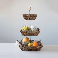 Tiered Countertop Basket Stand