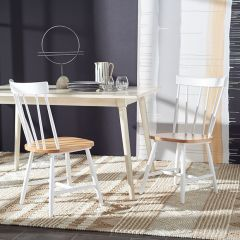 Spindle Back Farmhouse Dining Chair Set of 2