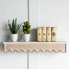 Scallop Edge Wall Shelf