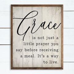 Grace is not just a Little Prayer Framed Sign