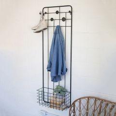 Long Metal Rack With Basket