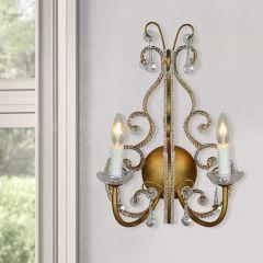 2 Light Beaded Elegance Wall Sconce