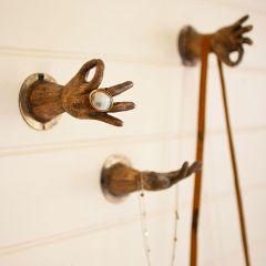Antique Brass Hand Wall Hook