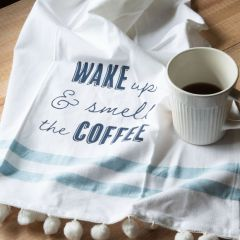 Smell The Coffee Farmhouse Tea Towel Set of 3