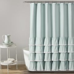 Ruffles and Lace Shower Curtain
