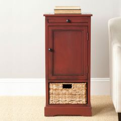 Storage Cabinet Table With Basket