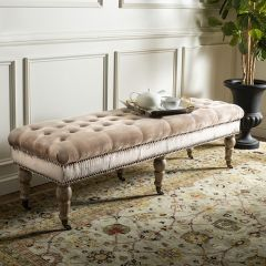 Luxurious Chic Button Tufted Bench