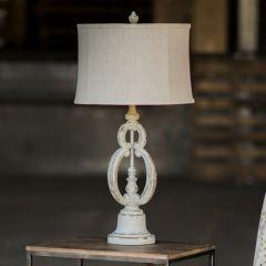 Rustic Distressed Table Lamp
