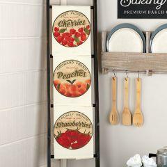 Fruit Print Tea Towels Set of 3