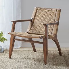 Mahogany With Rattan Chair
